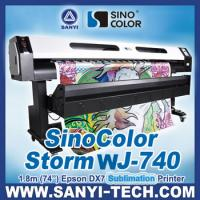 Quality 1.8m Sublimation Printer Sinocolor WJ740, With Epson DX7 Head for sale