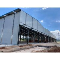 Quality Recyclable Anti Impact H Section Q355B Garage Steel Frame for sale