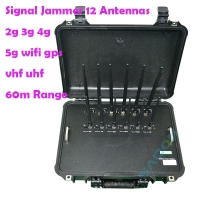 Quality 12 Antennas 56w 868mhz 5G Signal Jammer Blocker for sale