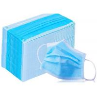 Quality Medical Disposable Earloop Face Mask 17.5cm*9.5cm Low Breath Resistance for sale