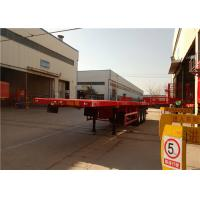 Quality 3 Axle Steel Flatbed Semi Trailer For Shipping 40ft Container Transport for sale