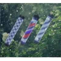 Quality Outdoor Waterproof LED Barber Pole RF Remote Red White Blue Color Stripes Rotating for sale