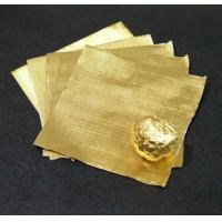 Quality Pure chocolate aluminum foil wrappers , gold foil wrapped chocolates Soft Temper for sale
