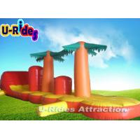 Quality Customized Coco Tree Shape Huge Inflatable Water Games Slide for sale
