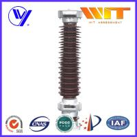120KV Brown Porcelain Surge Arrester for Railway Power Station IV Level Pollution Areas
