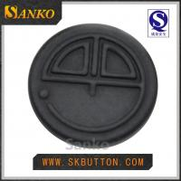 Quality large manufacture black metal sewing shank buttons made in China for sale