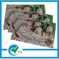 Quality Personalised Handmade Beautiful Colored Sweet Rose Die - cut Holiday Greeting Card Stock Paper  for sale