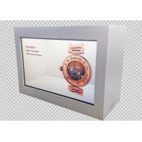 China Android OS WIFI 4G LTE Interactive Digital Signage Transparent LCD Display Showcase on sale