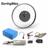 China 72v 3KW Rear Hub Ebike Kit , Electric Bicycle Hub Motor Kit Black / Silver Color on sale
