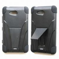 Quality Cellphone Cases, Ideal for Nokia Lumia 820, with Kickstand, Available in Various Colors for sale