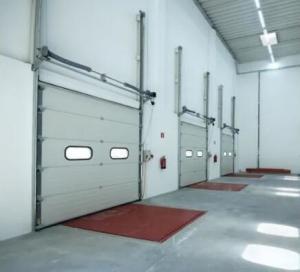 Quality 650N/M2 Wind Pressure Industrial Sectional Doors , Sectional Overhead Garage Door for sale