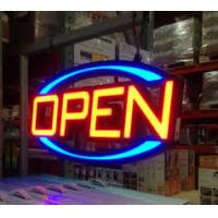 Quality RGB Lighted LED Open Sign Outdoor Oval Shaped Animated Motion Display for sale