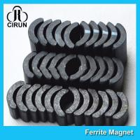 Powerful Ceramic Ferrite Arc Magnet , Sintered Permanent Magnets Customized