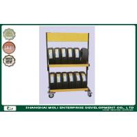 Quality Foldable steel rolling tire storage rack for warehouse stacking rack for sale