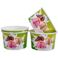 Quality Single Wall Frozen Yogurt Paper Cups , Paper Ice Cream Pint Containers for sale