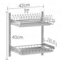 Quality Wall Mounted Kitchen Storage Baskets , Free Move Kitchen Corner Wire Baskets for sale
