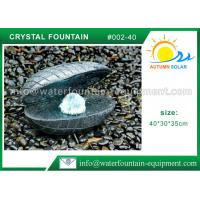 Quality Shell Shape Outdoor Garden Water Fountains ,  Durable Granite Water Fountain for sale