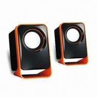 Buy cheap USB 2.0 Speaker with 90cm Long Cable and 3.5mm Jack Audio Input from wholesalers