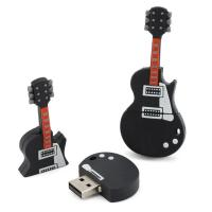 Black 16 Gig GuitarCustom USB Memory Stick USB 3.0 50 X 20 X 15 mm