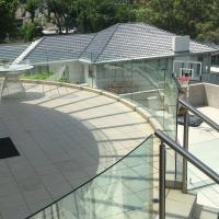 Quality High Quality Outdoor Curved Aluminum Glass Balustrade / Glass Railing for sale