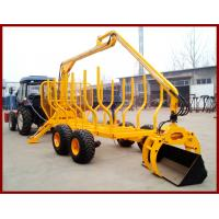 Cheap price of atv wood trailer with crane max.loading capacity upto 10MT