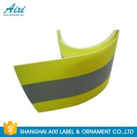 China PVC Clear 2*1CM Elastic Reflective Clothing Tape Reflective Fabric on sale
