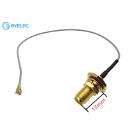 Buy cheap U.Fl To Waterproof IP67 SMA Female Connectors With 13mm Thread Coaxial RF Cable from wholesalers