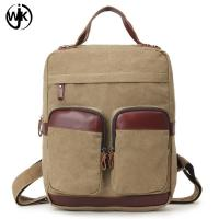 Quality High-capacity Multi-function men backpack leather with canvas luxury bags men canvas tote bag shoulder for sale