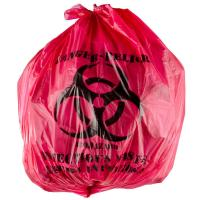 """Buy cheap 45L Isolation Infectious Recyclable Garbage Bags Red Color 24"""" X 24"""" High from wholesalers"""