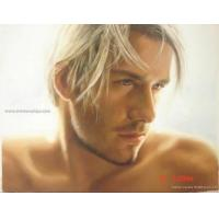 Buy Supply Football Star Beckham Portrait Oil Painting at wholesale prices