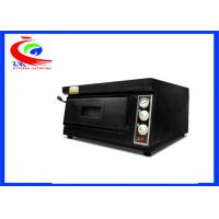 Quality Commercial baking machine electric pizza oven single deck black color for sale