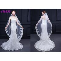Quality Modern Bridal Wedding Gown Accessories Veils 3 M With Hair Comb Sequins Technics for sale