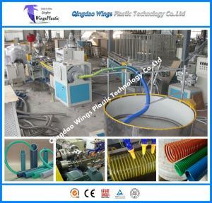 Quality PVC Suction Hose Extrusion Machine Production Line / PVC Hose Machinery Plan for sale
