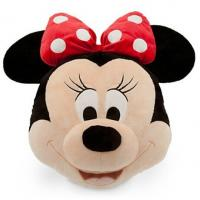 Quality Black And Pink Big Disney Minnie Mouse Head Cushions Pillows For Bedding for sale