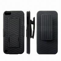 Quality Cellphone Cases for iTouch 5, Snap-on Holster Combo, Clip + Two-kickstand for sale