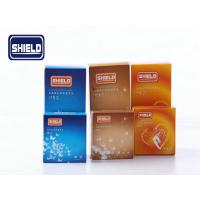 Quality Sexy Male Curry Flavored Ribbed Condoms 52mm Shield With GB7544-2009 for sale