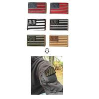 Buy Hot polyester customized colorful Embroidered Tactical USA Flag Patch at wholesale prices