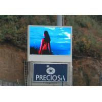 Large Creative Outdoor LED Display Signs real and virtual pixels/colors