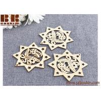 China Wood Snowflake Embellishments Rustic Christmas Decorations For Home Xmas Tree Hanging Ornament on sale