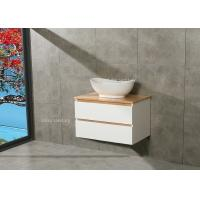 Quality Timber Countertop Single Bowl Bathroom Vanity DTC Metal Runners 800*510*500mm for sale