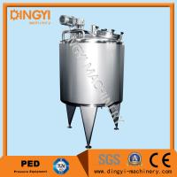 50-25000L Jacketed Stainless Steel Mixing Vessels Touch Screen Control With Heating