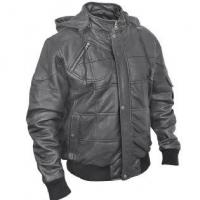 China 2012 men's new style hooded leisure imitation leather checked jacket on sale