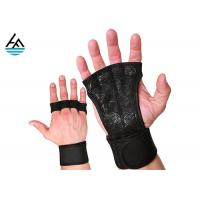 Quality Waterproof Neoprene Weightlifting Wrist Wrap With Leather Hand Grip for sale