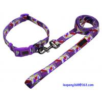 Quality Wholesale Spring Design Cheap Colorful Nylon Bone Craw Print Heated Pet Leash for sale