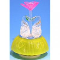 China Musical Box with Hand-made Glass Figurines #290 on sale