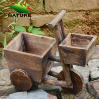 Quality Wood Car Cute Flower Planter for Indoor and Outdoor for sale