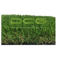 Quality Olive Shape Waterproof Artificial Grass No Infill 30mm Height 2 Layers Backing for sale
