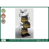 Quality Retail animal shape iron wire beer / wine display racks 3 tier drink shelves in store for sale