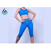 Quality Blue Neoprene Slimming Suits Sauna Suit Weight Loss Tank Top Shirt Short Pants for sale