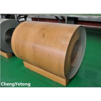 Quality PE Coating Stainless Steel Sheet Coil , Wood Grain Stainless Steel Sheet Roll Weight ≤8T for sale